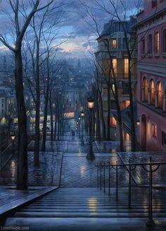 The long awaited rain, rain storm, lights, art, trees, autumn