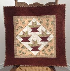 Autumn Baskets Quilt Wall Hanging by backporchquilts on Etsy, $40.00