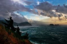 Nathaniel Reinhart, the Oregon coast