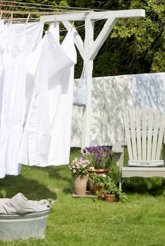 And when the weather is nice, I would hang the laundry out to dry and get that wonderful outdoor smell.