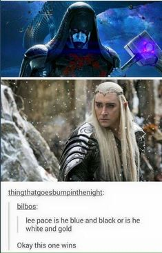 Le Hobbit : la Bataille des Cinq Armées : Photo Lee Pace as Thranduil Lotr, Dankest Memes, Funny Memes, Hilarious, J. R. R. Tolkien, Fandom Crossover, Fandoms, Lee Pace, Guardians Of The Galaxy