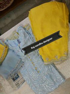 Ideas For Dress Pattern Indian Kurti Punjabi Suits Designer Boutique, Boutique Suits, Designer Punjabi Suits, Indian Designer Wear, Embroidery Suits Punjabi, Embroidery Suits Design, Patiala Suit Designs, Salwar Designs, Pakistani Dress Design