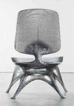 Joris Laarman Lab | Microstructures (Aluminum Gradient Chair) | 2014