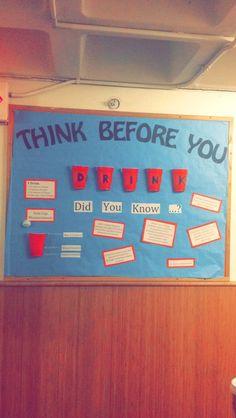 RA alcohol awareness bulletin board