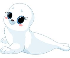 Illustration about Illustration of cute baby seal. Illustration of cute, adorable, nature - 20480628 Cute Cartoon Pictures, Cartoon Pics, Cute Images, Seal Cartoon, Baby Cartoon, Calin Gif, Cute Seals, Polo Norte, Baby Seal