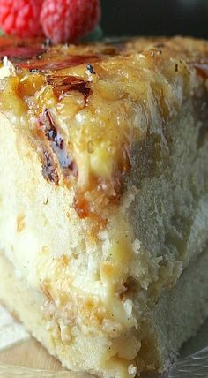 Creme Brûlée Cake You knew it was coming. I warned you. It was a smashing, delightful success that I must share. Weight Watcher Desserts, Creme Brulee Cake, Creme Brulee Cheesecake, Just Desserts, Dessert Recipes, Brulee Recipe, Bolo Cake, Low Carb Dessert, Savoury Cake