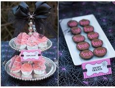 glam halloween party cupcakes