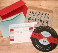 Totally free, totally rockin' DIY vinyl record wedding invitation ...