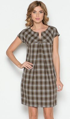 Look and cut wouldn't work for me. - Look and cut wouldn't work for me. – Look and cut wouldn't work for me. Simple Dresses, Cute Dresses, Casual Dresses, Short Dresses, Fashion Dresses, Plaid Dress, Dress Skirt, Check Dress, Mode Outfits