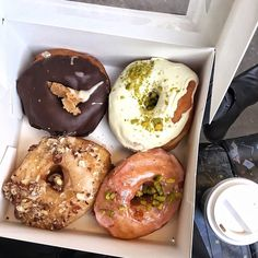 Donut worry, be happy!  Successfully demolished these little bad boys from @brammibalsdonuts on our way home from #naschmarkt @markthalleneun ! 100% #vegan, 100% #donutheaven