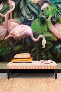 Love flamingos? Style them on your walls. Feel like you can escape without leaving the comfort of your home.