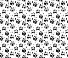 Cool geometric scandinavian style indian summer animals raccoon black and white fabric surface design by Little Smilemakers on Spoonflower - custom fabric and wallpaper inspiration Indian Animals, Black And White Fabric, Inspirational Wallpapers, Indian Summer, Scandinavian Style, Designer Wallpaper, Surface Design, Custom Fabric, Spoonflower