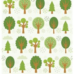 Trees by Allison Cole Art Deco Logo, Tree Designs, Cute Illustration, Tree Art, Fabric Painting, Craft Fairs, Pop Art, Print Patterns, Backdrops