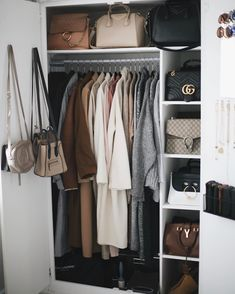 Iconic Closet Design and Organization Walk In Wardrobe, Wardrobe Closet, Closet Bedroom, Closet Space, Wardrobe Organisation, Dream Closets, Closet Designs, Beauty Room, Wardrobes