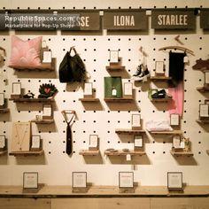 (simplicidad, ausencia de color, uso de materiales recuperados, uso de artículos del entorno,multifuncional)#Etsy Pop-Up Shop
