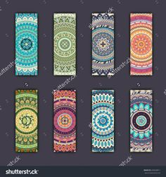 Banner Card Set With Floral Colorful Decorative Mandala Elements Background. Tribal,Ethnic,Indian, Islam, Arabic, Ottoman Motifs. Стоковая векторная иллюстрация 494928811 : Shutterstock