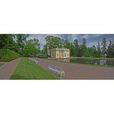Palace grounds Catherine Palace Tsarskoye Selo St Petersburg Russia Canvas Art - Panoramic Images (27 x 9)