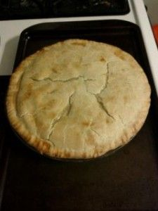 Easy chicken pot pie - made with pie crusts!