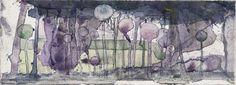 Cabbages in an Orchard : Charles Rennie Mackintosh  :  circa 1916  [Art Nouveau] #ArtNouveau