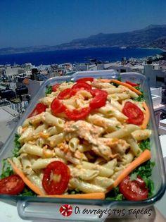 Σαλάτα με πέννες στα γρήγορα #sintagespareas Pasta Salad, Salads, Cooking Recipes, Favorite Recipes, Eat, Ethnic Recipes, Food, Crab Pasta Salad, Food Recipes