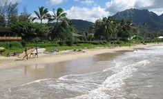"""Hanalei Bay on the North Shore of Kauai."" (From: 30 Beautiful Photos of the Hawaiian Islands)"