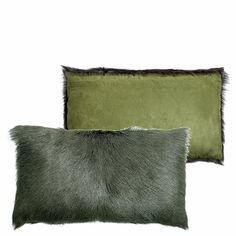 Lifestyle Kussen Geitenbont 50 x 30 cm - Groen