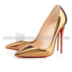 So Kate Golden Pumps Christian Louboutin Women Leather Cl Shoes, Shoe Boots, Shoes Heels, Christian Louboutin Sandals, Christian Louboutin So Kate, Red Bottom Pumps, Gold Models, Kinds Of Shoes, Red Bottoms