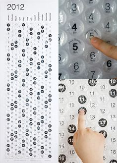 Bubble wrap calendar - YES! This girl LOVES bubble wrap what would make a better calender Crafts For Kids, Diy Crafts, Calendar Design, Bubble Wrap, Cool Gadgets, Cool Stuff, Bubbles, Geek Stuff, Diy Projects