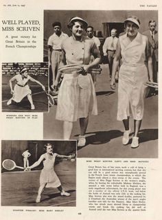 Peggy Scriven became the first British person to win the French Open and the first left handed player to win a major tournament  The Tatler  Wednesday 14 June 1933 (scheduled via http://www.tailwindapp.com?utm_source=pinterest&utm_medium=twpin&utm_content=post179583225&utm_campaign=scheduler_attribution)