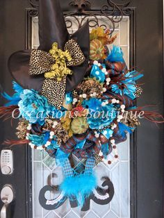Halloween Witch Wreath, Halloween Decoration, Fall Wreath, Witch Wreath, XL Wreath, Front door wreath, Custom Wreath, Ready to ship by OccasionsBoutique on Etsy