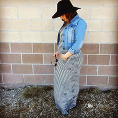 Dress that bump from head to toe in F&J!! Stop in and let us show you how to make style work for you before, during and after pregnancy. #frankieandjules #styleyourbump #bumpstyle #maxidress #hotmom #babyfever #love #boutiqueshopping #boutiquefashion #denimjacket #layer #bump #preggo #kansascity #shopfnj #shoplocal #stripes #boho #hat #styleme #whatimwearing #whatimwearingtoday #secondtrimester
