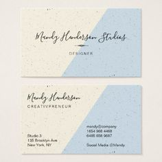 Speckled Two Tone Business Card  $28.45  by lovely_businesscards  - cyo diy customize personalize unique