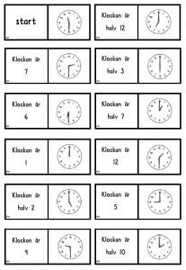 klockadomino Math Activities For Kids, Math For Kids, Teaching Career, Teaching Math, Maths, Montessori Materials, Teaching Materials, Math Clock, Learn To Tell Time