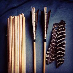 Homemade arrows.