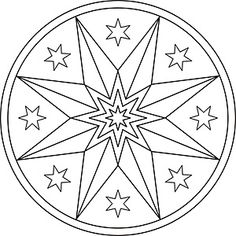 Mandala Malvorlage Weihnachtsstern