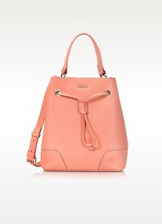 432fe4f3f253 FURLA Peach Leather Stacy Small Bucket Bag.  furla  bags  shoulder bags