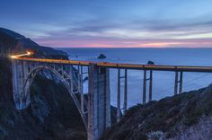 Big Sur - California's Pacific Coast Highway - camped under this bridge. Pacific Coast Highway, Pacific West, Highway Road, Pacific Ocean, San Diego, San Francisco, Places Around The World, Around The Worlds, California Wallpaper