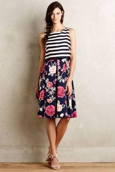 Split-Print Dress by Eliza J #anthrofave #anthropologie