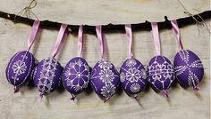 KRASLICE /slepačie maľované vajíčka/ - fialové