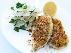 Receta | Escalope de pollo vienés (Grilled chicken schnitzel with fennel slaw) - canalcocina.es