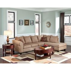 LYKE Home Bennie Taupe Sectional  sc 1 st  Pinterest : burke sectional - Sectionals, Sofas & Couches