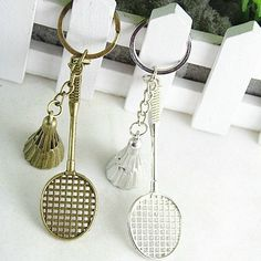 Badminton Racket Key Chain