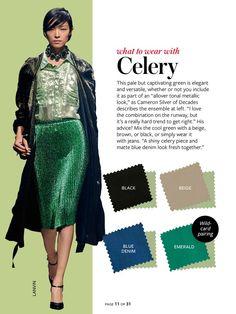 Celery: pale green