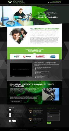 Southwest Diamond Cutters website design by Avijit Brahma.