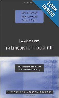 Amazon.com: Landmarks in Linguistic Thought Volume II: The Western Tradition in the Twentieth Century (History of Linguistic Thought) (Vol 2...