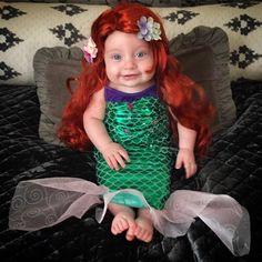 "Sullivan Mae ""Sully"" Kelly dressed as The Little Mermaid."