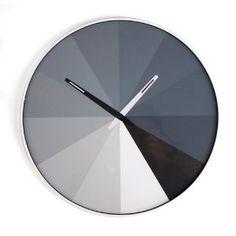 Kikkerland CL23 ultra flat wall clock, grayscale, $31.99