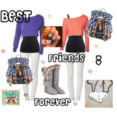 """""""BFF OUTFIT!"""" by alyssagrace12 on Polyvore"""