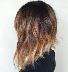 Coupe de cheveux concave, ombré