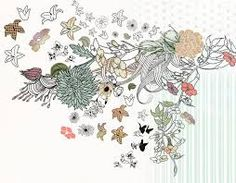 ink flower drawing - Google Search